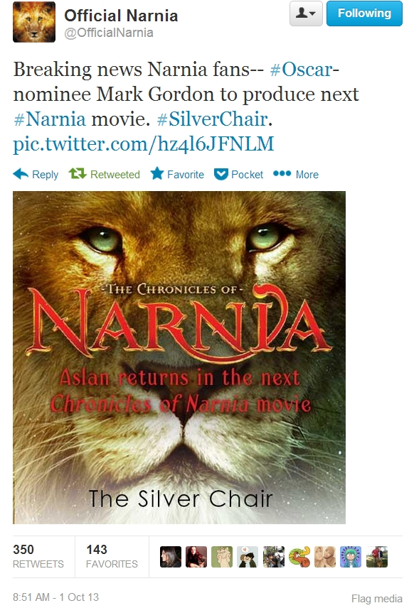 The Silver Chair Announced