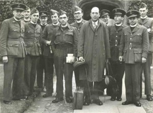 Lewis with RAF Chaplains 1944