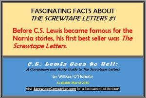 Before C.S. Lewis became famous for the Narnia stories, his first best seller was The Screwtape Letters.