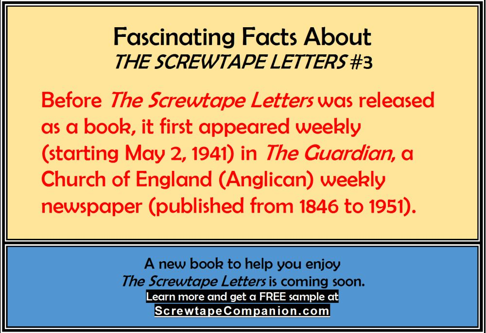 the screwtape lette by cs lewis essay He is best known for his essays on christianity and for the children's fantasy  series the  14 bulverism (1941) 15 the screwtape letters (1942) 16 the  abolition of man  letter (19 april 1951) published in letters of c s lewis ( 1966), p.