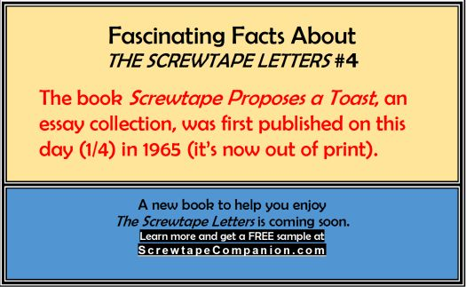 the screwtape lette by cs lewis essay Need help with letter xxii in c s lewis's the screwtape letters check out our revolutionary side-by-side summary and analysis.