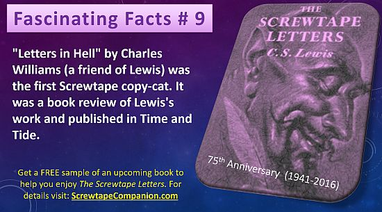 the screwtape letters is one of many great books by cs lewis as the publication of my book about it draws near im sharing a fact about it each day