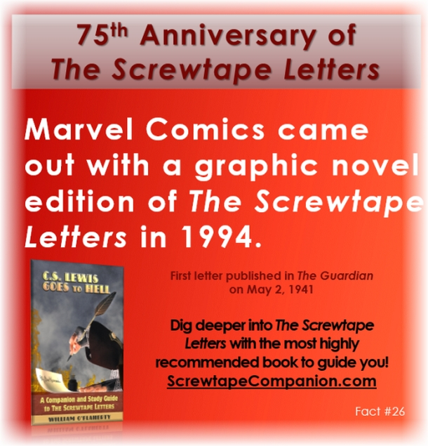 screwtape letter 26 Screwtape letter #26 – discussion guide this entry was posted in screwtape letters on february 3, 2017 by c wgsu (updated on november 11, 2017 ) letter #26.