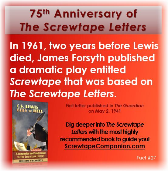 screwtape letters essay questions Screwtape letters not illustrates lewis knowledge of the bible essays related to the screwtape letters by cs lewis 1 got a writing question.