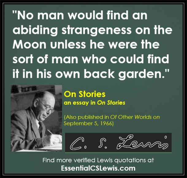 cs lewis on stories essay Cs lewis and tolkien on myth and knowledge role that myth and fairy-story had to play lewis was particularly cs lewis's essay myth.