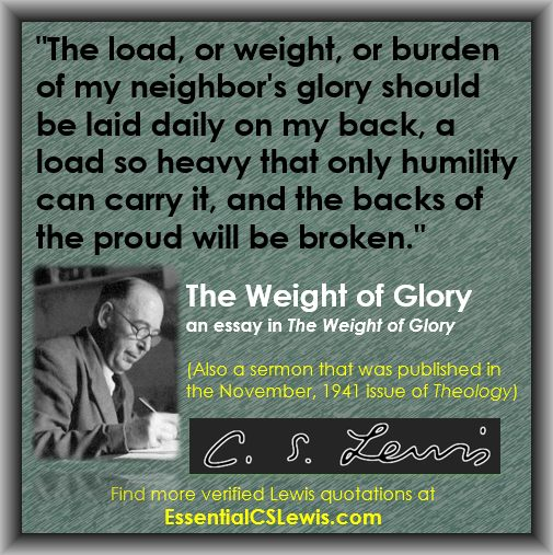 the weight of glory essay